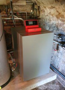 Pompe à chaleur eau-eau sur géothermie installée par Planète Energies sur la ville de Messimy