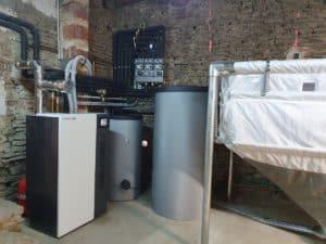 Installation d'une chaudière granulés sur la commune de Sainte-Consorce par Planète Energies