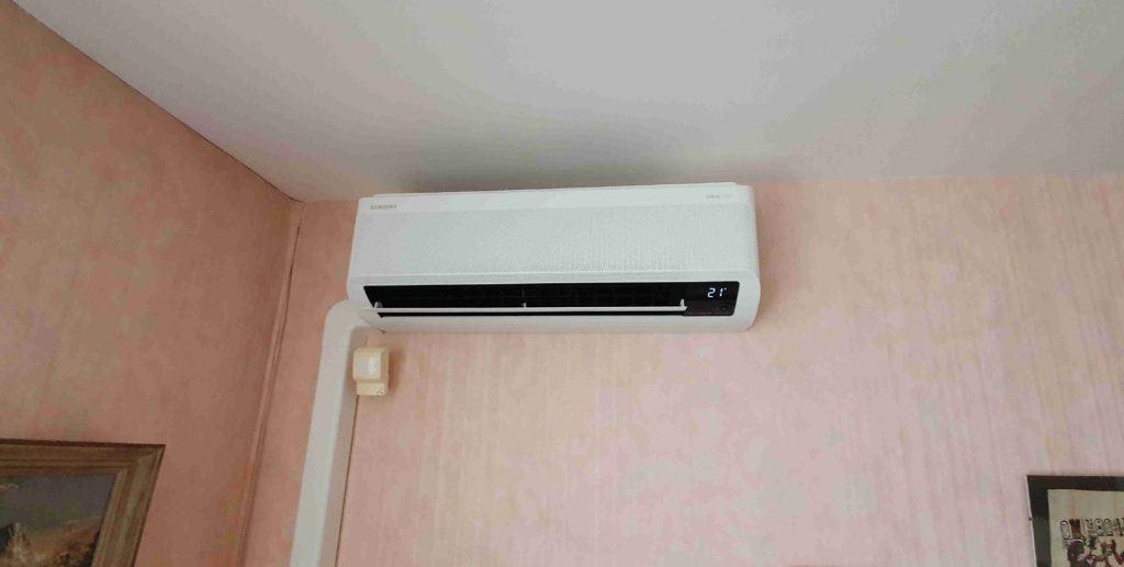 Unité intérieure Murale Elite d'une climatisation Samsung installée par Planète Energies dans la ville de Taluyers